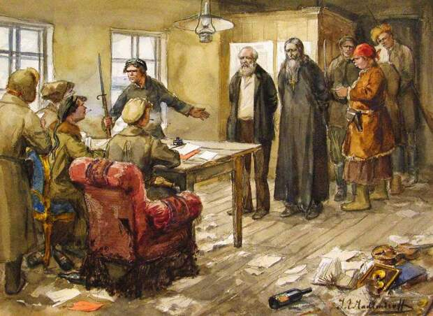 Революция 1917 года и не только, в картинах Ивана Владимирова