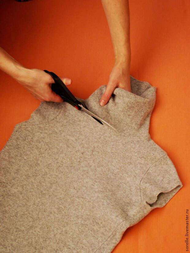РУКОДЕЛКИ-ПЕРЕДЕЛКИ. Переделка свитера в стильную вещицу
