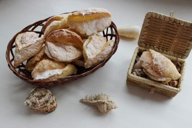 Пирожные «Мидии» с безе