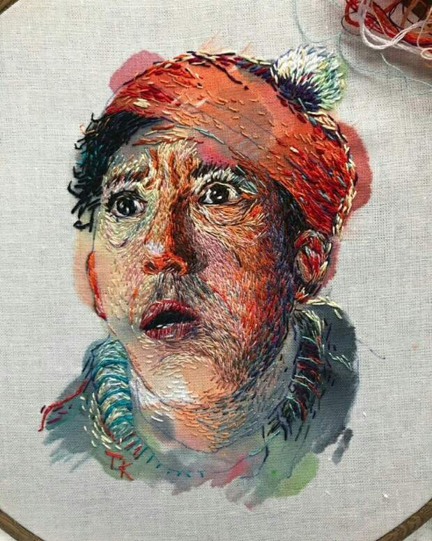 Вышитые портреты  Taisiya_kovali