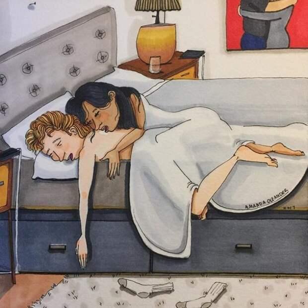 Закулисье любви: американская художница рисует реальные отношения