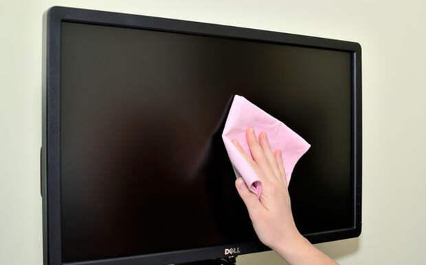 Чем вытирать монитор дом, полезно, советы