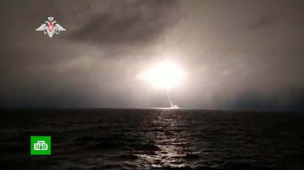Минобороны показало кадры запуска «Булавы» в Белом море