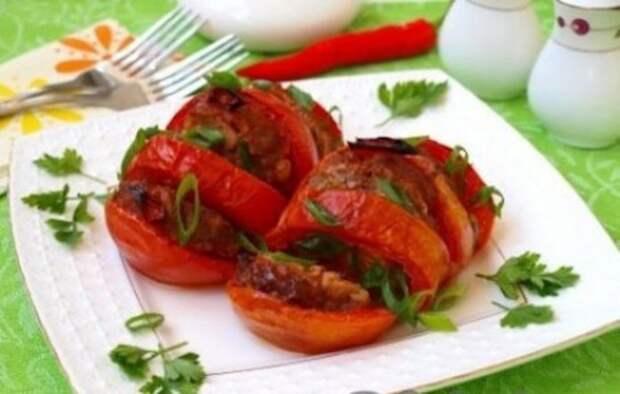 Запечённые помидоры с мясом «Мясная ярмарка»
