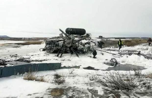 На Чукотке разбился военный вертолет, четыре человека погибли