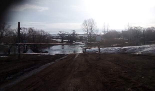 В Оренбуржье из-за паводка подтопило еще один низководный мост