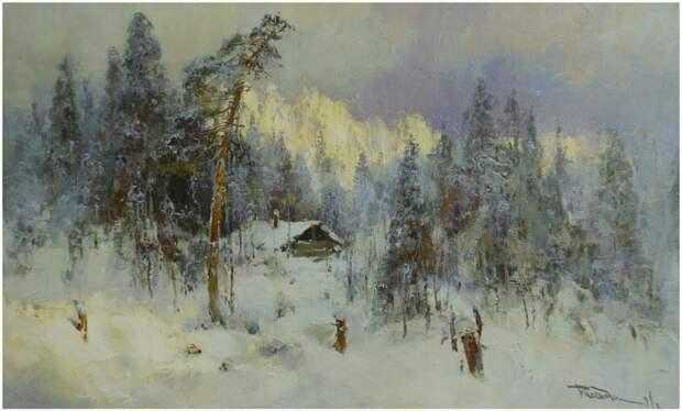 """Ю.Васендин """"Охотничье зимовье"""""""