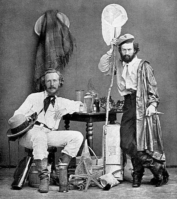 Эрнст Геккель (слева) и Миклухо-Маклай на Канарских островах. Декабрь 1866 года Весь Мир, история, фотографии