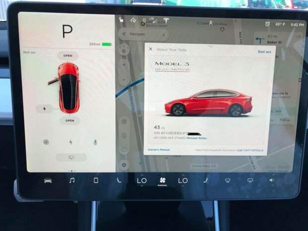 Первые живые фото и видео самой мощной Tesla Model 3
