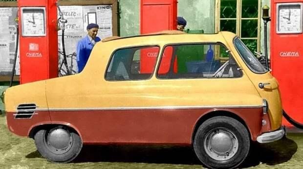 Оригинальный минивагон Jawa Motorex-350 с задним мотоциклетным мотором. 1956 год авто, автодизайн, автомобили, дизайн, интересные автомобили, минивэн, ретро авто