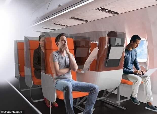 Как может измениться интерьер самолетов после пандемии коронавируса