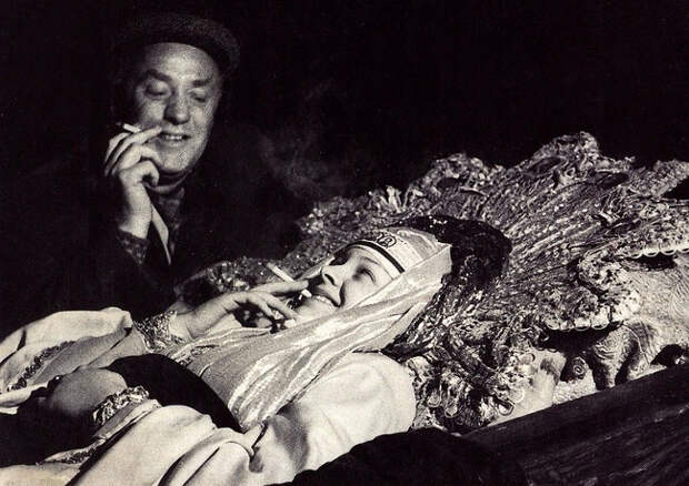 """Фотографии со съёмочной площадки """"Иван Грозный"""" 1944 год."""