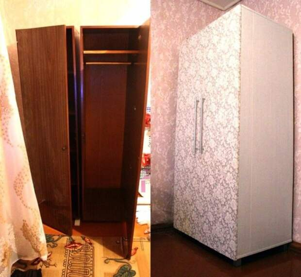 «Новая» мебель без крупных вложений. Идеи переделки старого шкафа