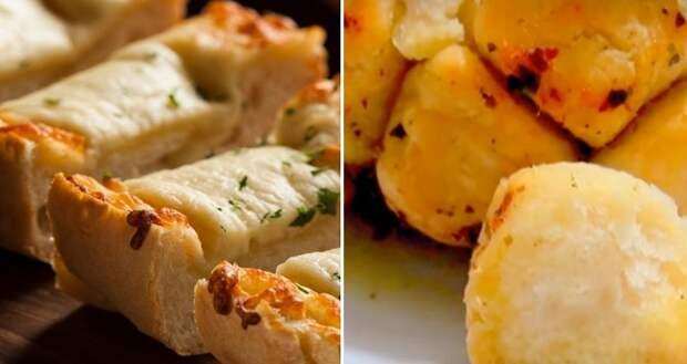 хлеб с чесноком и сыром в духовке