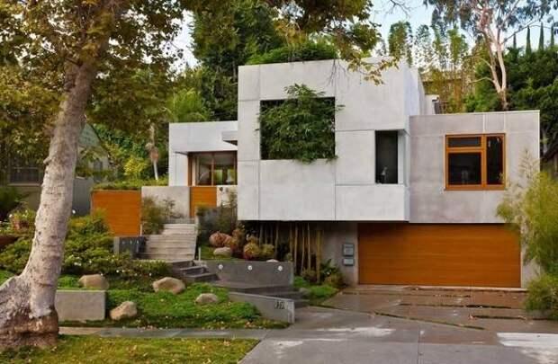 Необычные материалы для отделки фасада - бетон