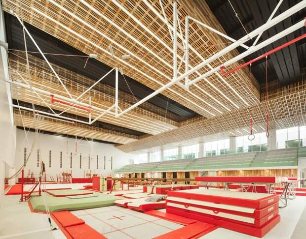 Здание спортивного комплекса во Франции
