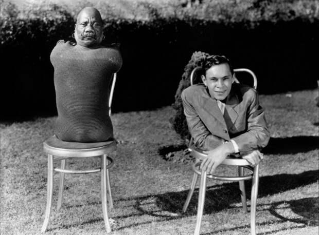 Человек без тела, и человек без ног. интересное, прошлое, фото, цирк