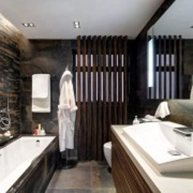 Контраст в ванной восточного стиля