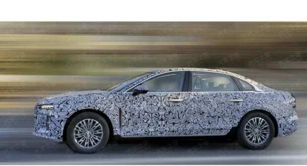 В Сети появились шпионские фото нового китайского авто Honggi H6