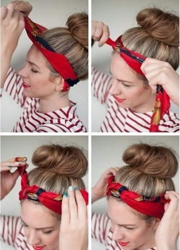 Завязываем платок красиво