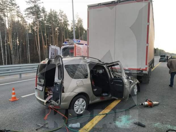 Три человека погибли в ДТП с фурой под Москвой