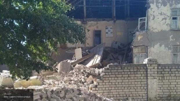 Стена здания МЧС рухнула в Нижегородской области