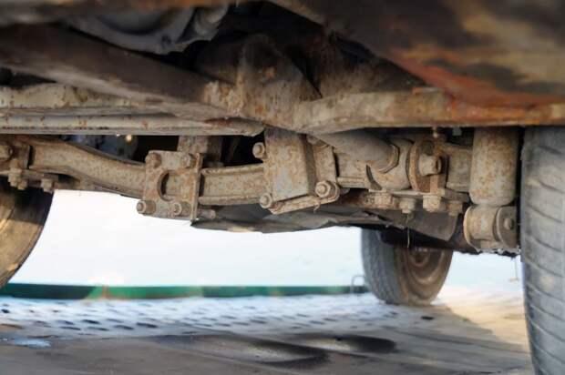 Передняя неведущая балка от УАЗ-451 АКХ-60, авто, автобус, икарус, олдтаймер, ретро техника, самоделка, самодельный автомобиль
