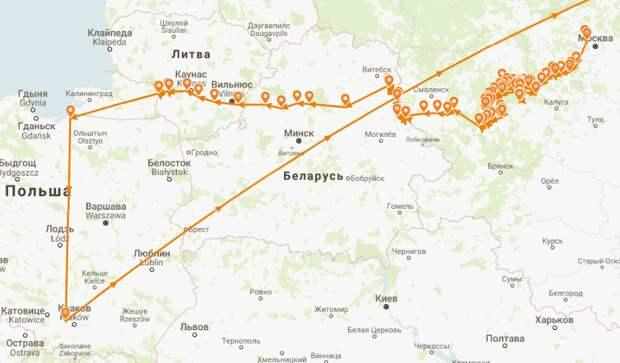 Карта боевого пути 338-й стрелковой дивизии