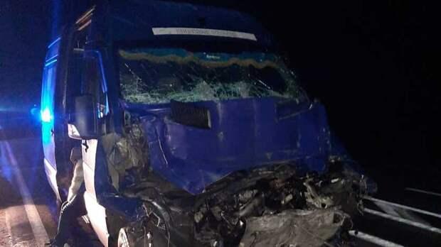 Три человека пострадали ваварии смаршруткой игрузовиком наСтаврополье