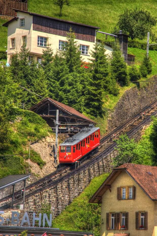 Пилатусбан— самая крутая железная дорога вмире