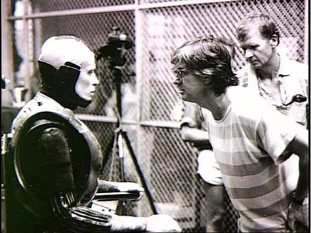На съемках фильма «Робокоп»