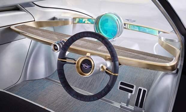 предполагаемый салон автомобиля будущего - полный минимализм