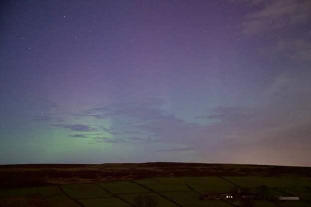 Деревня Оксенхоуп, Западный Йоркшир великобритания, корональная дыра, красивые фотографии, небо, природное явление, северное сияние, шотландия