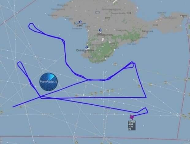 Американские самолеты «кружат» у берегов Крымского полуострова (ФОТО)
