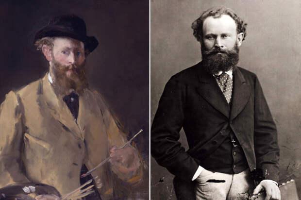 Справа: Автопортрет с палитрой Эдуард Мане, 1879 год. \ Слева: Эдуард Мане. \ Фото: google.com.