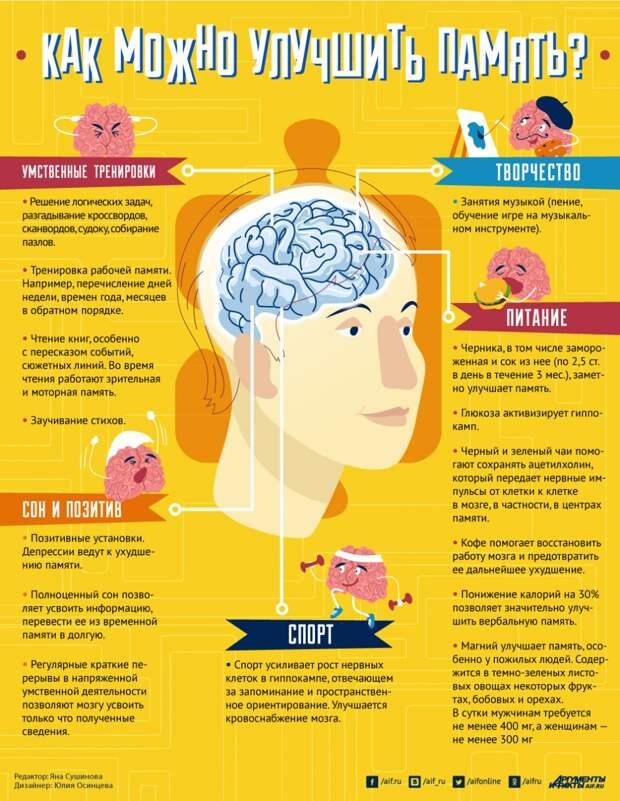 Инфографика: как улучшить память