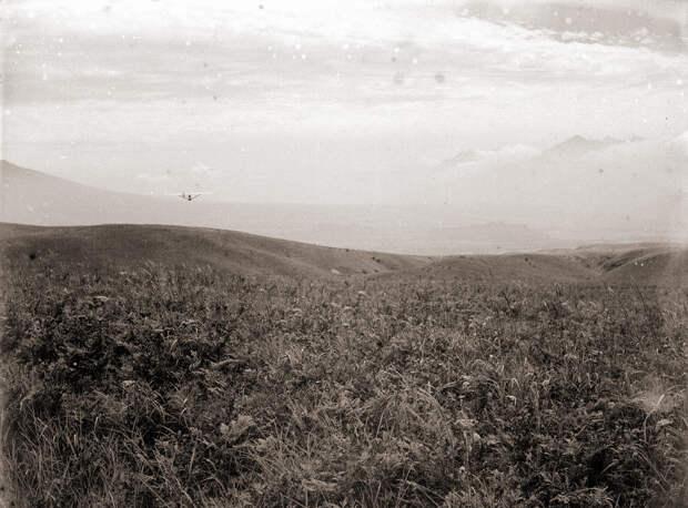Glider Soaring Above 1930s Japan