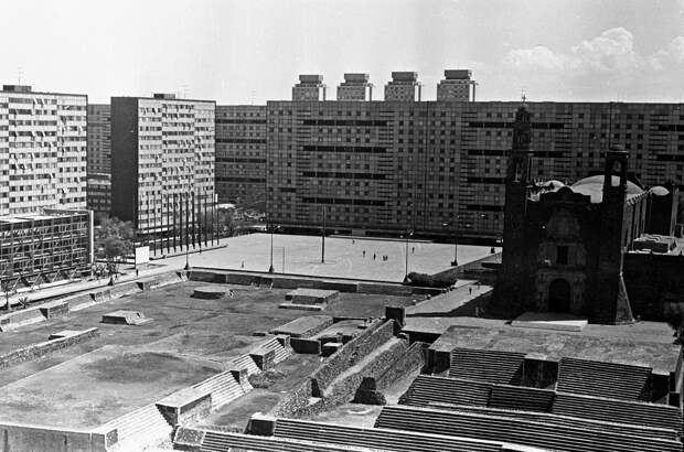 Место событий 2 октября 1968 г. – площадь Трех культур в Талалолко - РИА Новости, 1920, 01.10.2020