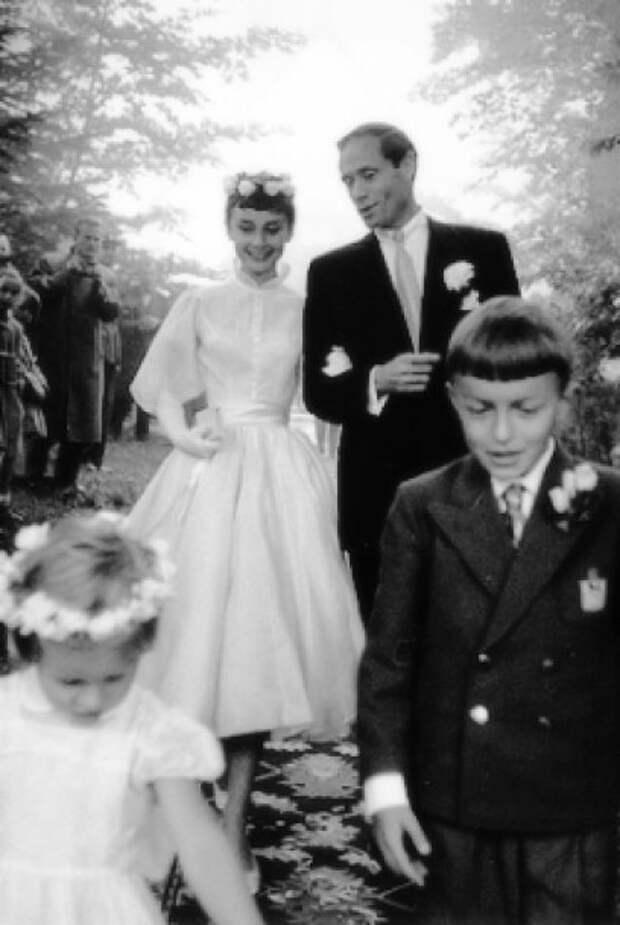 Свадьба Одри Хепберн и Мела Феррера