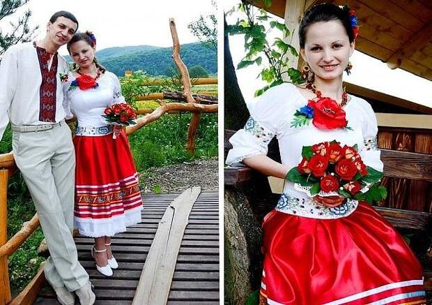 Как вам такие наряды жениха и невесты?)