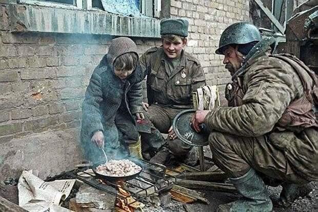 Будни в Чечне. Все мы люди...