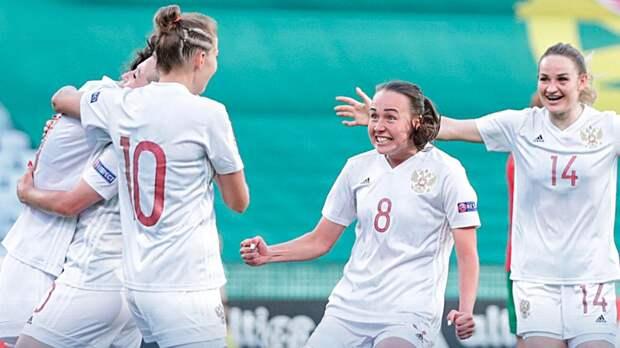 Женская сборная России победила Португалию в 1-м стыковом матче Евро-2021