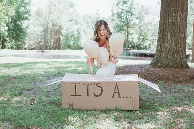 Она решила сделать особую фотосессию в стиле тех, на которых обычно раскрывается пол будущего ребёнка ну или сам факт беременности истории, люди, милота, сюрприз