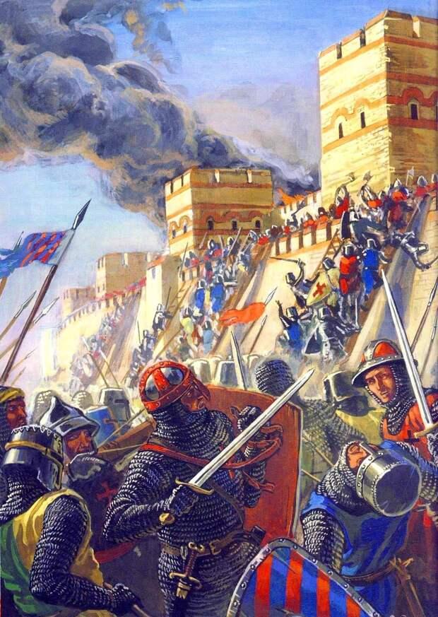 Описание боевых действий в древнерусской повести о взятии Константинополя крестоносцами в 1204 году