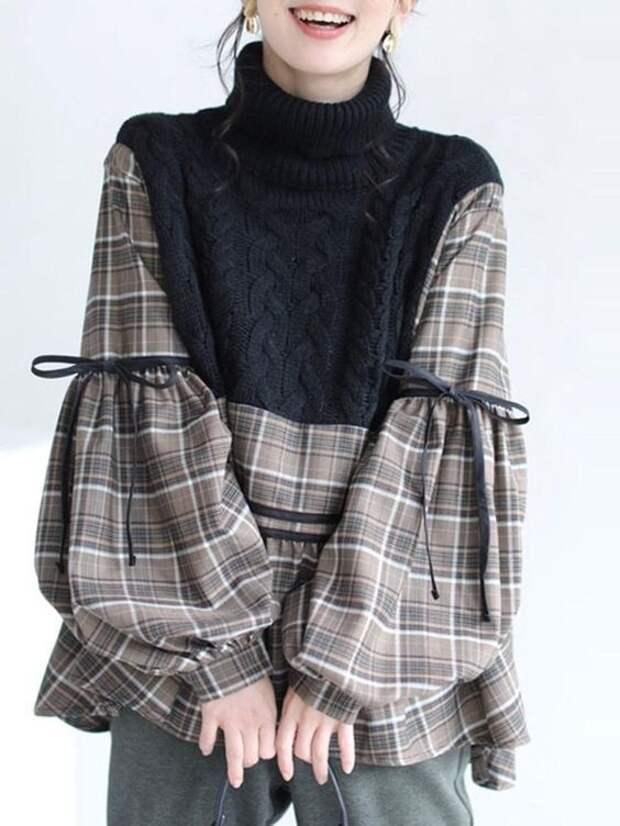 переделка свитера и рубашки
