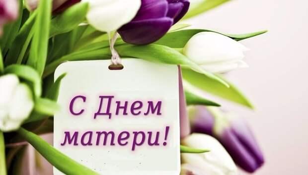 Глава Подольска поздравил жительниц округа с Днем матери