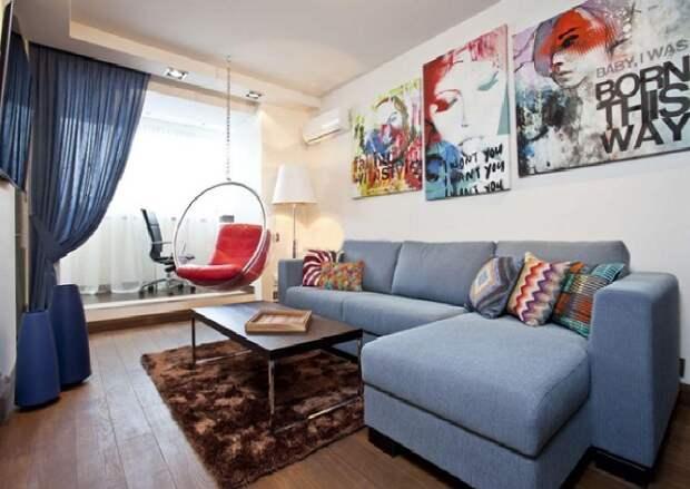 Шторы на одну сторону: оригинальное оформление квартиры (49 фото)