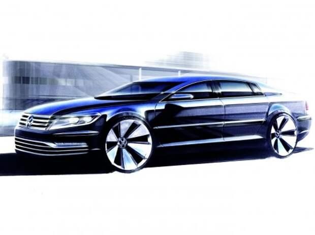 Новый VW Phaeton превзойдет «Мерседес» S-класса