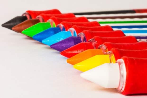 Цветные Карандаши, Ручки, Мелки, Красочный, Цвет