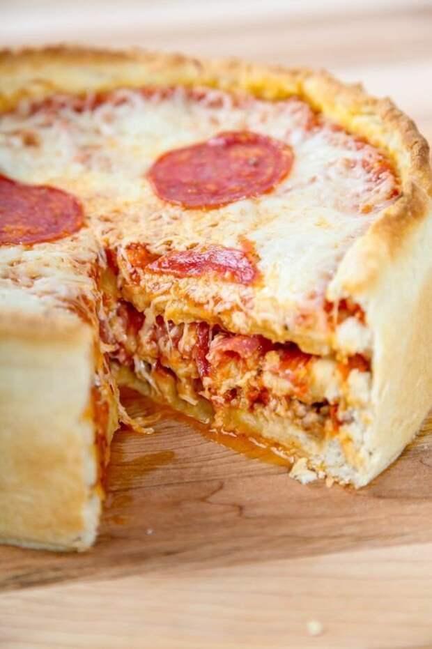 Многослойные пиццы вкусно, еда, красота, многослойное, необычно, пироги. мясо
